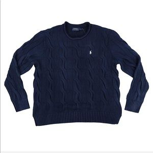 Ralph Lauren Rolled Collar Cable Knit Sweater